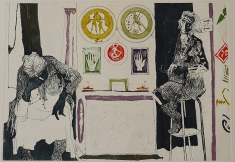 La Cartomancienne, an art piece by Jean Jansem (1920 – 2013)