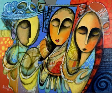 Three Sisters, an art piece by Romeo Avagyan - image 1