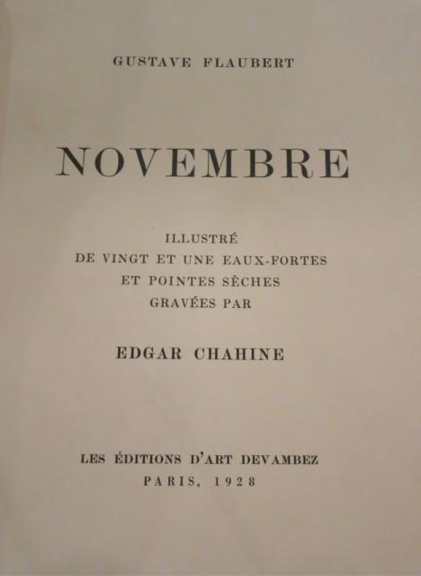 Gustave Flaubert - Novembre, illustrated by Edgar Chahine, an art piece by Edgar Chahine (1874-1947)