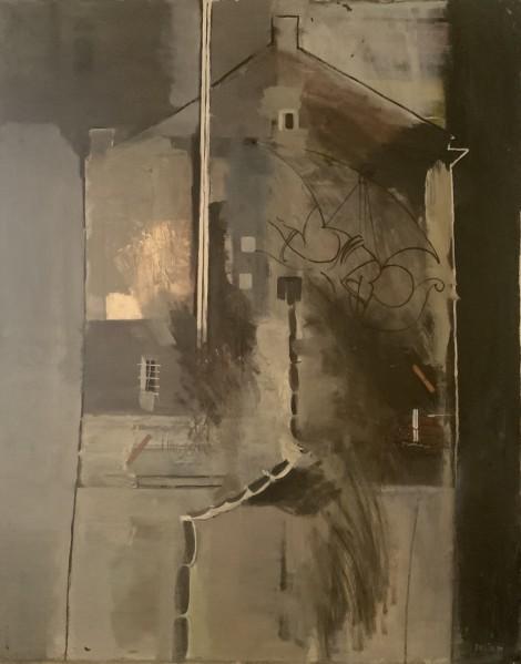 House with a chimney, an art piece by Felix Yeghiazaryan - image 1