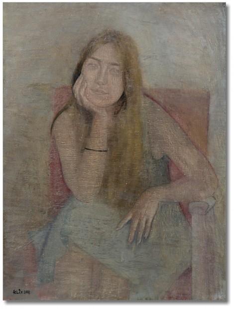 Portrait of a young woman, an art piece by Felix Yeghiazaryan - image 1