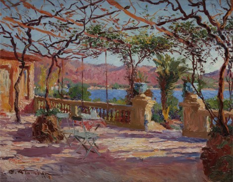 Terrasse à Antibes, an art piece by Charles Atamian - image 1