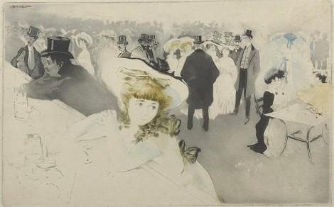 Le Promenoir, an art piece by Edgar Chahine (1874-1947) - image 1