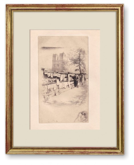 Les bouquinistes du quai Saint Michel, an art piece by Edgar Chahine (1874-1947) - image 1