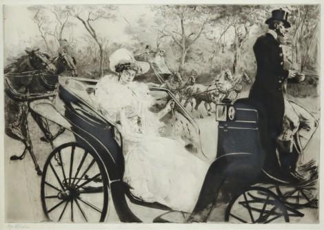 La Promenade, an art piece by Edgar Chahine (1874-1947) - image 1