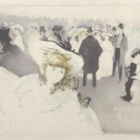 The Walkway, an art piece by Edgar Chahine (1874-1947)