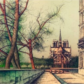 To Notre - Dame II, an art piece by Jean Carzou