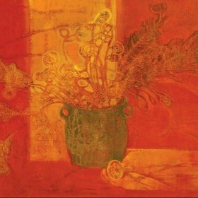 Still Life In Red, an art piece by Hasmik Avetisyan
