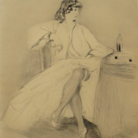Bianca Moreno, an art piece by Edgar Chahine (1874-1947)