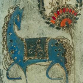 Blue Horse, an art piece by Gohar Edigaryan