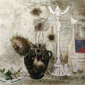 CHANDELIER ET TOURNESOLS, an art piece by Jean Jansem (1920 – 2013)