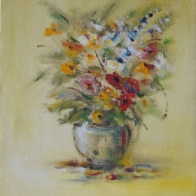 Flowers in Vase, an art piece by Samvel Harutyunyan