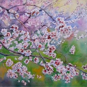 Blooming Apricot, an art piece by Igor Pron