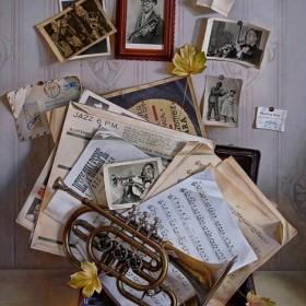 Still Life with Trumpet, an art piece by Igor Pron