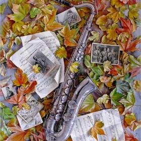 Saxophone. Autumn Mood, an art piece by Igor Pron
