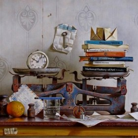Still Life With Scales, an art piece by Igor Pron