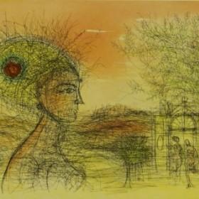 6, an art piece by Jean Carzou