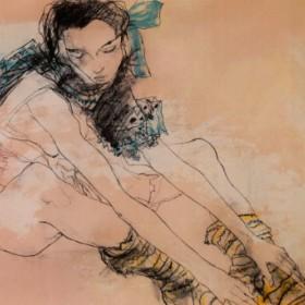 Le Ruban Bleu, an art piece by Jean Jansem (1920 – 2013)
