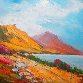 Mountain Lake, an art piece by Serjo Maltsev