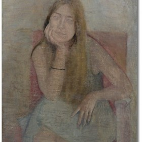 Portrait of a young woman, an art piece by Felix Yeghiazaryan