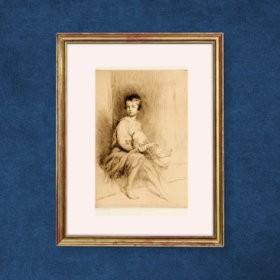 La Bella Bambina, an art piece by Edgar Chahine (1874-1947)