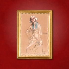 Portrait de femme, an art piece by Emile Berchmans
