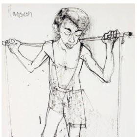 Le porteur d'eau, an art piece by Jean Jansem (1920 – 2013)