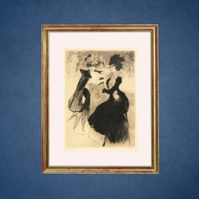 Le Bar Americain, an art piece by Edgar Chahine (1874-1947)