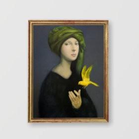 Green Headscarf, an art piece by Guy Ghazanchyan