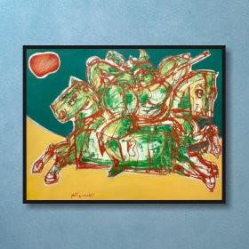 The Tournament, an art piece by Van Soghomonyan