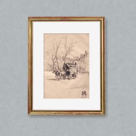 L'Omnibus, an art piece by Edgar Chahine (1874-1947)