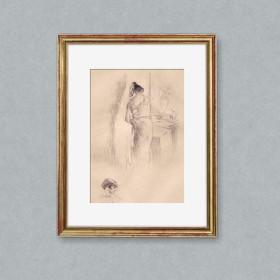 Devant le miroir, an art piece by Edgar Chahine (1874-1947)