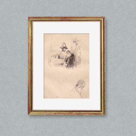 Limited edition Print, an art piece by Edgar Chahine (1874-1947)