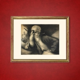Ghemma Assise, an art piece by Edgar Chahine (1874-1947)