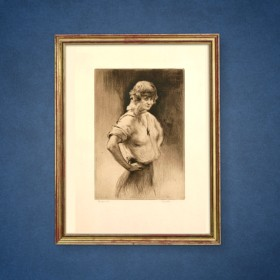 Gigolette, an art piece by Edgar Chahine (1874-1947)