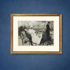 La Promenade, an art piece by Edgar Chahine (1874-1947)