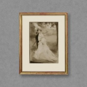 En Promenade, an art piece by Edgar Chahine (1874-1947)