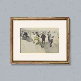 Le Promenoir, an art piece by Edgar Chahine (1874-1947)